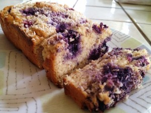 coconut blueberry loaf